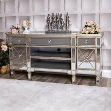 stand tv unit champagne furniture glass