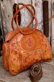 vintage leather handbag indian women