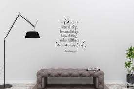 1 Corinthians 13 8 Love Never Fails Vinyl Wall Decal Etsy