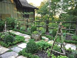 Small Kitchen Garden With Rustic Wood Fence Hgtv
