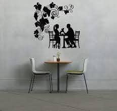 Amazon Com Wall Vinyl Sticker Decals Mural Room Design Pattern Art Bedroom Coffee Tea Couple Romance Art Table Tree Bo2464 Baby