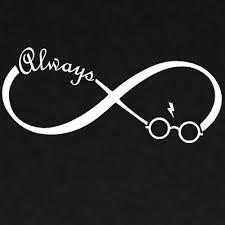 Harry Potter Always Infinity Vinyl Decal Car Free Shipping Window Sticker
