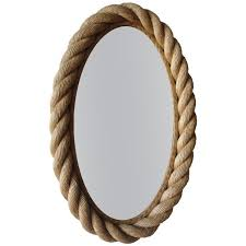 braided rope oval mirror by audoux et