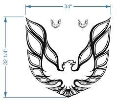 Product Kit Firebird Trans Am Hood Bird Decal Graphic Pontiac 3 Decals