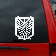 Amazon Com Attack On Titan Scouting Legion Crest Decal 5 Tall Vinyl Decal Window Sticker For Cars Trucks Windows Walls Laptops And More Kitchen Dining