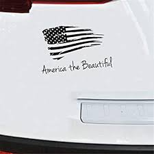 Amazon Com Gaoeer Car Decal Car Sticker 2517cm Patriotic Quote Decor America The Beautiful Usa Flag Car Sticker Vehicle Window Decal Windshield Laptop Waterproof Home Kitchen