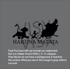 Hakuna Matata Simba Lion King Diecut Vinyl Decal Sticker Car Window Disney Ebay