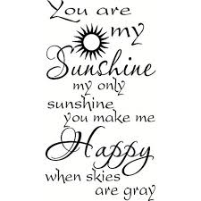You Are My Sunshine Wall Decal By Scripture Wall Art Vinyl Wall Art Inspirational Vinyl Stencils And More And More Made In The Usa Walmart Com Walmart Com