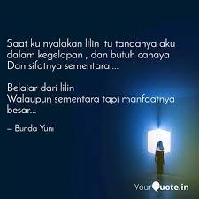 saat ku nyalakan lilin it quotes writings by bunda yuni