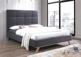 Ivy King Fabric Bed Frame (Modern Design) – QLD Bedding Furniture