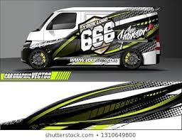 Van Sticker Decal Design Simple Lines With Abstract Background Vector Concept For Vehicle Vinyl Wrap And Car Livery In 2020 Vans Stickers Graphic Kit Car