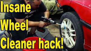 garage life hack insane wheel cleaner