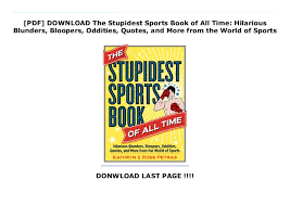 pdf the stupidest sports book of all time hilarious blund