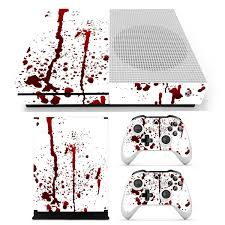 Bloody Skin Decals Stickers Cover For Xbox One S Game Console 2 Controllers Sale Banggood Com