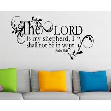 Shop Beautifully Framed Quote The Lord Is My Shepherd Psalm 23 Wall Art Sticker Decal On Sale Overstock 11550107
