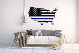 Usa Blue Line Vinyl Wall Decal Police Officer Self Expressions Decals More