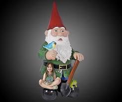 8 1 2 foot tall garden gnome statue