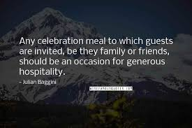 julian baggini quotes any celebration meal to which guests are