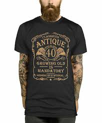 40th birthday t shirt gift idea for men