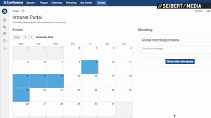 event calendar in atlian confluence
