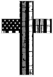 Amazon Com American Flag Cross I56 Grey Line Corrections Decal Sticker Distressed Car Laptop Netbook Window Arts Crafts Sewing
