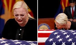 John McCain death: Daughter Meghan McCain BREAKS DOWN into tears at Arizona  memorial   World   News   Express.co.uk