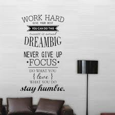 Work Hard Dream Big Proverbs Art Wall Stickers Wall Stickers Wall Sticker Wall Stickers Bedroom