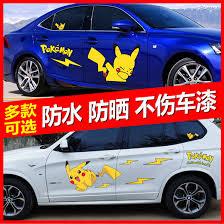 Qoo10 Pikachu Car Window Decal Stickers Pikachu Vinyl Decal Sticker For Car Automotive Ind