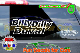 Dilly Dilly Duval Vinyl Decal Jacksonville Fl Local Pride Style B Fun Decals