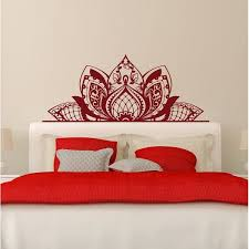 Shop Lotus Flower Wall Decal Headboard Decorations Overstock 31672246