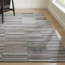 ceres granite grey striped rug 5x8