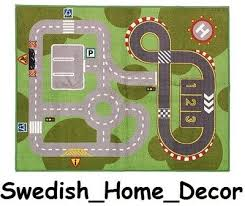 play car mat rug race track from ikea
