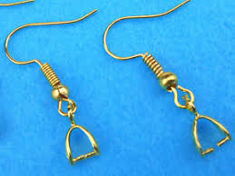 18k gold plated jewelry findings bail