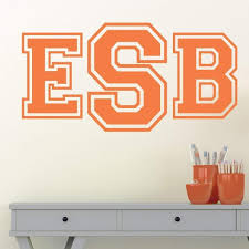 Collegiate Monogram Personalized Wall Decal Jack And Jill Boutique