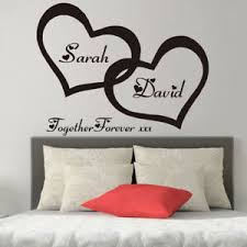 Husband Wife Personalised Heart Bedroom Decor Wall Art Vinyl Decal Sticker V269 Ebay