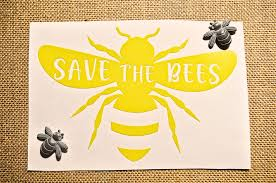 Save The Bees Vinyl Window Decal Environmental Car Sticker Save The Earth Stickers Save The Bees Laptop Sti Vinyl Window Decals Bee Sticker Save The Bees