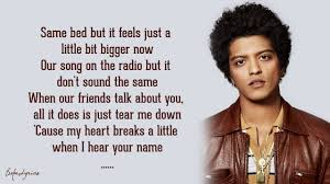 When I Was Your Man - Bruno Mars (Lyrics) - YouTube