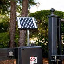 Mighty Mule 10 Watt Solar Panel Kit For Electric Gate Opener Fm123 At The Home Depot Electric Gate Opener Solar Panels Solar