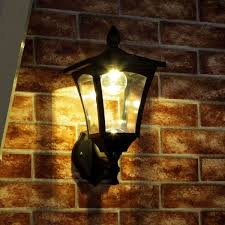 classic solar wall light warm white