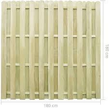Vidaxl Fence Panel 180x180cm Fsc Impregnated Pinewood Outdoor Garden Barrier Amazon Co Uk Kitchen Home