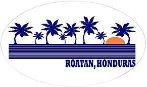 Amazon Com Cafepress Roatan Honduras Oval Sticker Oval Bumper Sticker Euro Oval Car Decal Home Kitchen