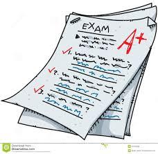 Examen de dessin animé illustration stock. Illustration du papier ...