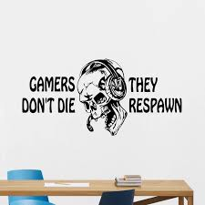 Skull Gamer Decal Video Game Controller Sticker Play Decal Gaming Posters Gamer Vinyl Decals Decor Mural Video Game Wall Sticker Video Game Stickers Game Stickervinyl Wall Decals Aliexpress
