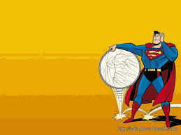 superman cartoon background wallpaper