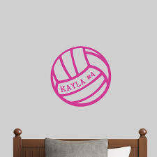 Zoomie Kids Custom Volleyball Personalized Wall Decal Wayfair