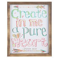 Pure Heart Mdf Wall Art Hobby Lobby Hobby Lobby Decor Girls Room Wall Decor Frames On Wall