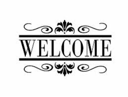 Large Custom Business Welcome Sign Vinyl Decal Sticker Window Door Glass Ebay Front Door Decal Silhouette Vinyl Home Quotes And Sayings