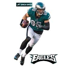 Philadelphia Eagles Zach Ertz Fathead 3 Pack Life Size Removable Wall Decal