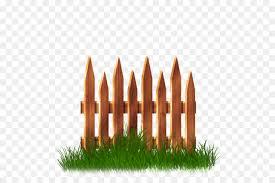 Fence Cartoon Clipart Fence Garden Grass Transparent Clip Art