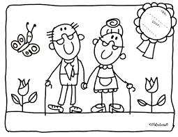 Kleurplaat Opa En Oma Kinderboekenweek 2016 Kleurplaten